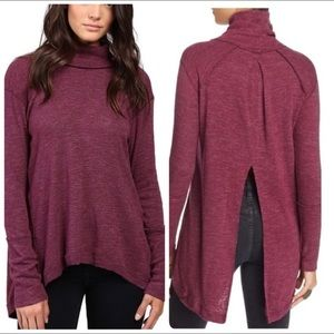 Free People - Purple Marled Turtleneck Sweater - S